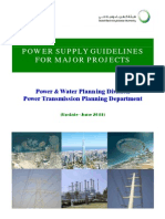 Powe Supply Guidelines for Major Project June-2011 Update