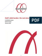 Kotan. Haiti's Debt Burden- The Real Story. Eurodad Analysis. 2010.