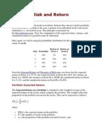 Portfolio - Risk n Return