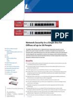 Zywall USG 100/200 datasheet