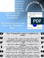 Transaction Value - Excise