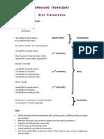 SPEAKING TECHNIQUES – Presentation