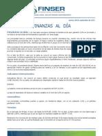 Finanzas al Día - 08.09.11