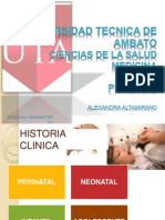 Historia Clinica perinatal, neonatal infatil