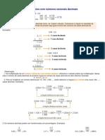 Operações com números racionais decimais