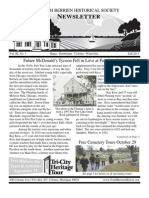 Fall 2011 Newsletter - North Berrien Historical Society