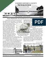 Fall 2011 Newsletter - North Berrien Historical Society