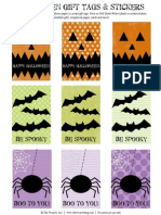 Halloween Gift Tags & Stickers