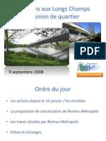 Réunion de quartier du 09/09/2008