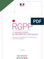 Révision générale des politiques publiques (RGPP) - 2e rapport d'étape au président de la République
