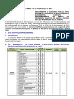 Edital Regulam Medicos Aux Enfermagem 2011