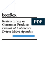 BoozCo Restructuring Consumer Products Coherence