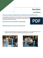Inspección y Reparación de los Rodamientos del Eje Diferencial (2)