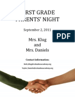 Parent Night Packet