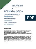 Anestesicos en cirugia dermatologica