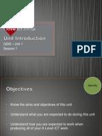 S1 - Unit Introduction