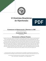 hipertensão - IV Diretrizes Brasileiras