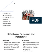 Democracy vs Dicta or Ship