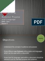 S2 - Audience Purpose and Language