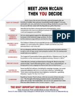 "UDecide.org's ""Meet John McCain, Then You Decide"" flyer"