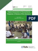 Impact Assessment of Humanitarian Response