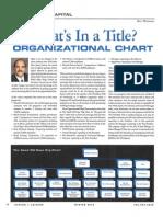 Organizational Chart Article Winter 2010