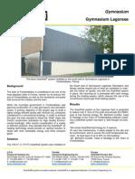Solarwall Case Study - Gymnasium Lagorsse Fontainebleau - solar air heating system