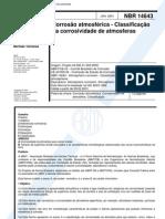NBR 14643 - 2001 - Corrosao Atmosferica - Classificacao_da_corrosividade_de_atmosferas