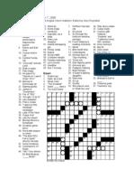 """Don't Blink"" - VP crossword puzzle"