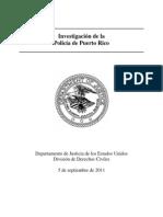 Informe Dept. Justicia sobre Policía PR espanol[1]