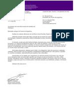 Carta de la WOSM Región Interamericana a Scouts de Argentina