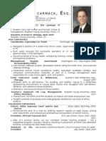 Brad Carmack Résumé 2012