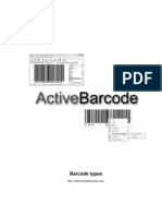 Active Bar Code Bar Code Types English