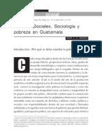 Ciencias Sociales, Sociología y Pobreza