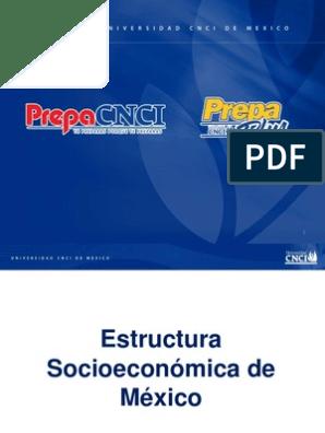 Estructura Socioeconómica Crecimiento Económico Producto