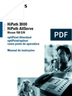 Manual de usuário Optipoint Attendant (telefone recepção)
