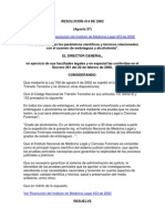 Resolucion 414 de 2002 (Alcoholemia)