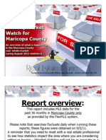 Monthly Market Watch for August 2011; Maricopa County and Metro Phoenix