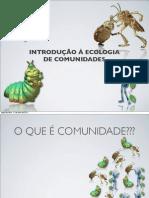 ECOLOGIA DE COMUNIDADES
