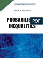 George Anastassiou - Probabalistic Inequalities