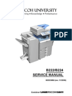 Ricoh [B222,B224] Aficio MP-C3500,MP-C4500 Parts & Service Manual