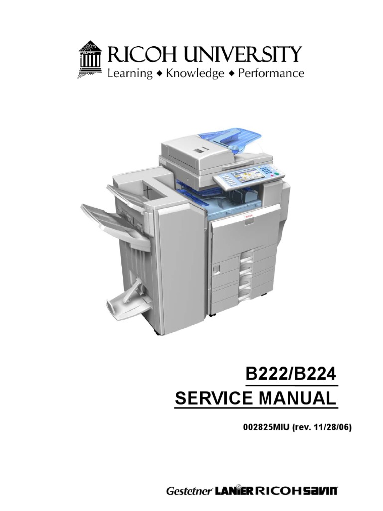 ricoh b222 b224 aficio mp c3500 mp c4500 parts service manual rh es scribd com