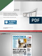Sistema Alerta Junín 2.0. Prensa y material de difusión (Alerta Municipios)