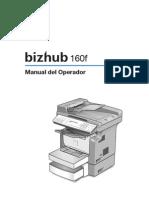 Manual Bizhub 160f
