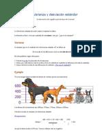 Varianza y desviación estándar de perros