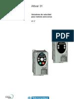 ATV 31 H Manual Prog. Variador Frecuencia