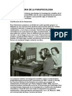 Historia de La Parapsicologia