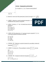 Anexo 1 - Exercícios - Inequações polinomiais