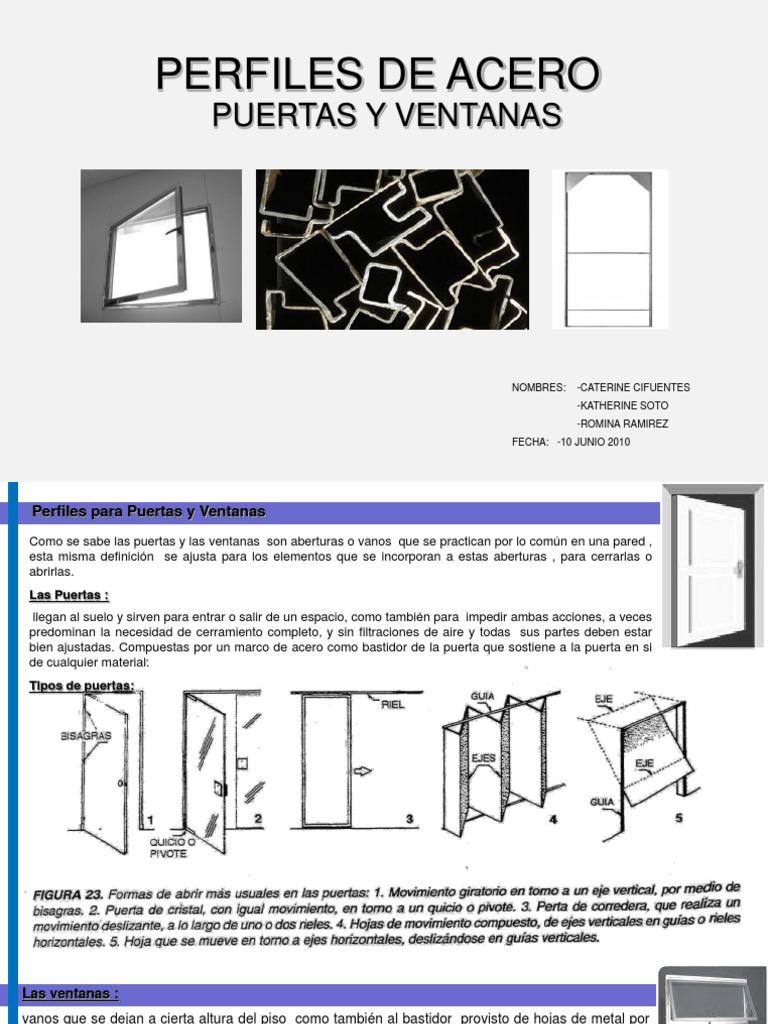 Puertas y Ventanas de Acero