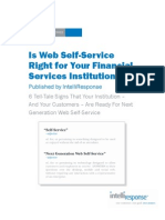 Is Web Self-Service Right for Your Financial Institution?